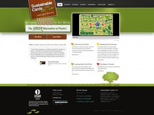 New Sustainable Cards Site Design